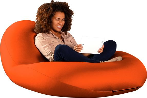 Kids Cloud Nest Large Orange Bean Bag Chair