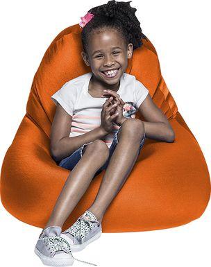 Kids Cloud Nest Small Orange Bean Bag Chair