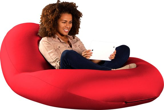Kids Cloud Nest Large Red Bean Bag Chair