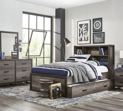 Kids Colefax Avenue Gray 5 Pc Full Bookcase Bedroom