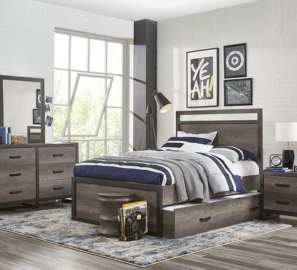 Kids Colefax Avenue Gray 5 Pc Full Panel Bedroom