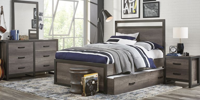 Kids Colefax Avenue Gray 5 Pc Twin Panel Bedroom