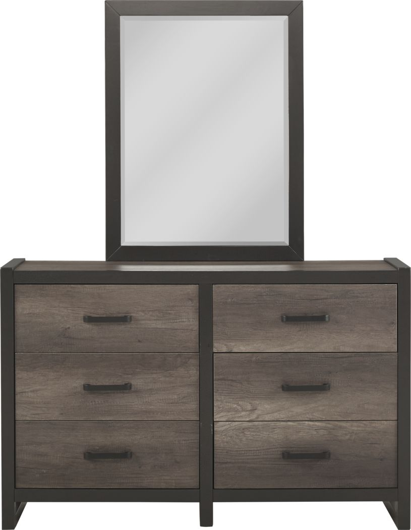 Kids Colefax Avenue Gray Dresser & Mirror Set