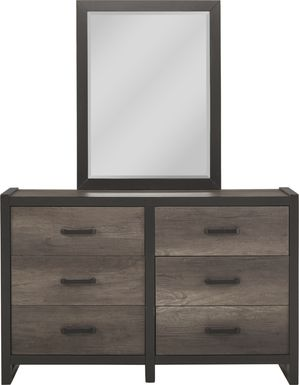 Kids Colefax Avenue Gray Dresser & Mirror Set