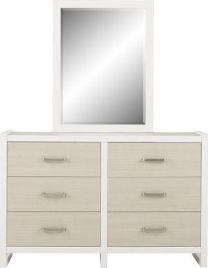 Kids Colefax Avenue White Dresser & Mirror Set