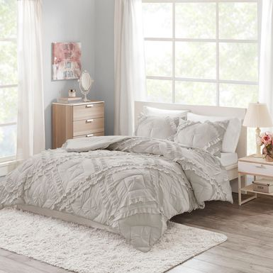 Kids Cottage Chic Gray 3 Pc Full/Queen Coverlet Set