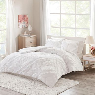 Kids Cottage Chic White 3 Pc Full/Queen Coverlet Set