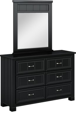 Kids Cottage Colors Black Dresser & Mirror Set