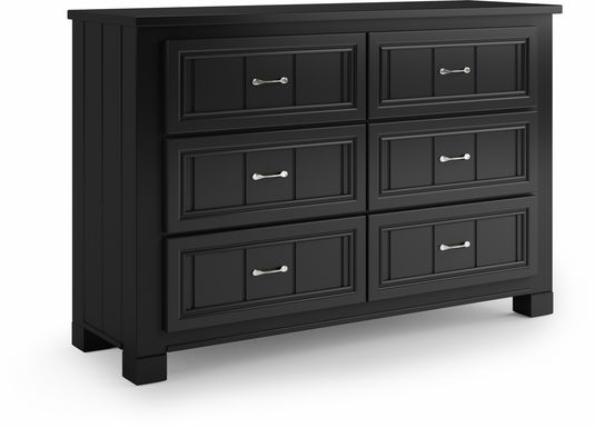 Kids Cottage Colors Black Dresser