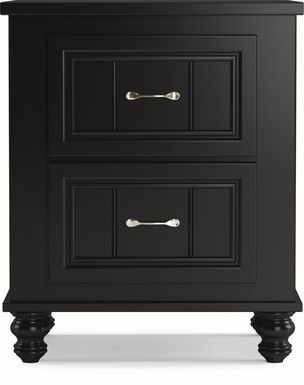 Kids Cottage Colors Black Nightstand