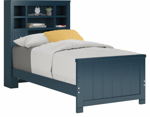 Kids Cottage Colors Blue 3 Pc Twin Bookcase Bed