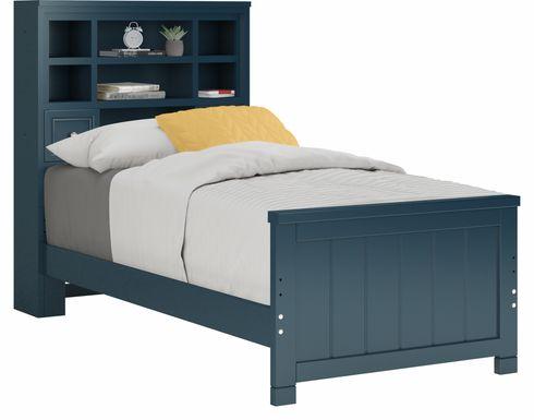 Kids Cottage Colors Blue 3 Pc Twin Bookcase Bed