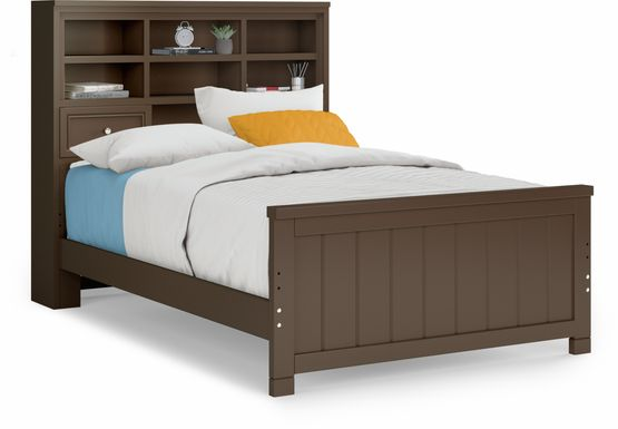 Kids Cottage Colors Chocolate 3 Pc Full Bookcase Bed