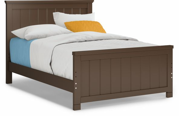 Kids Cottage Colors Chocolate 3 Pc Full Panel Bed
