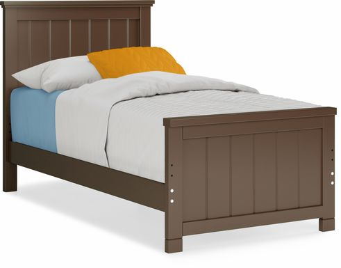 Kids Cottage Colors Chocolate 3 Pc Twin Panel Bed