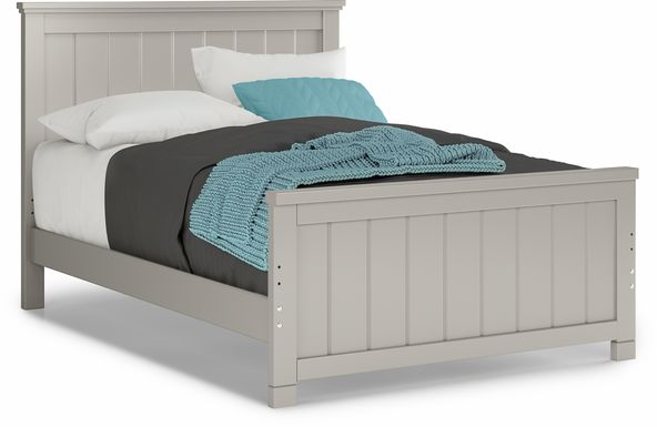 Kids Cottage Colors Gray 3 Pc Full Panel Bed
