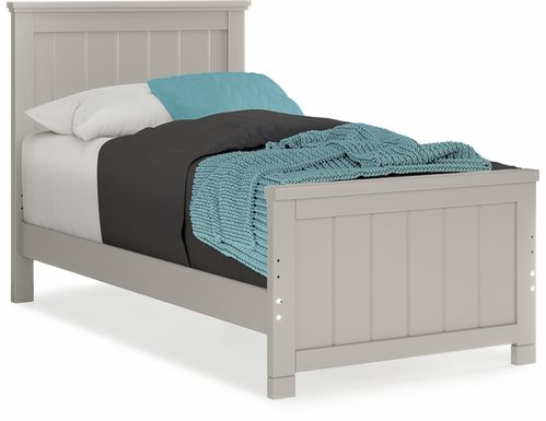 Kids Cottage Colors Gray 3 Pc Twin Panel Bed