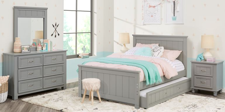 Kids Cottage Colors Gray 5 Pc Twin Panel Bedroom