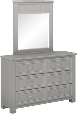 Kids Cottage Colors Gray Dresser & Mirror Set