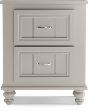 Kids Cottage Colors Gray Nightstand