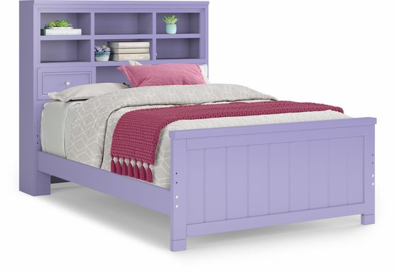 Kids Cottage Colors Lavender 3 Pc Full Bookcase Bed