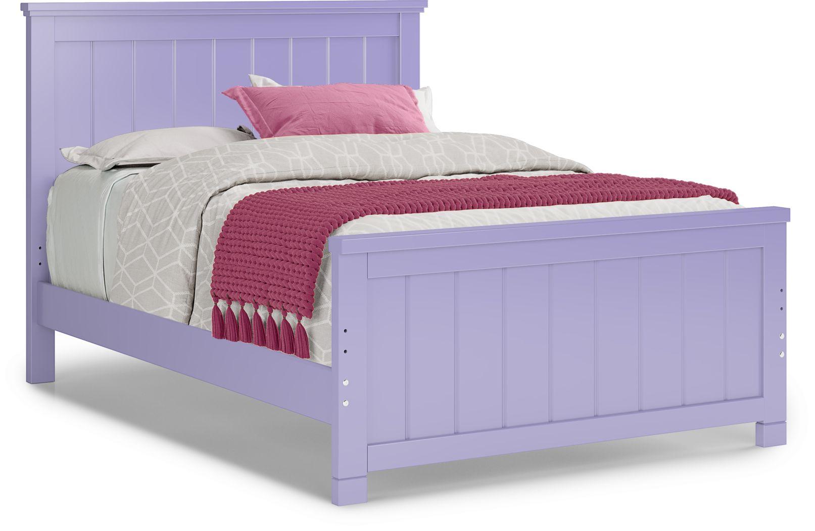 Kids Cottage Colors Lavender 3 Pc Full Panel Bed