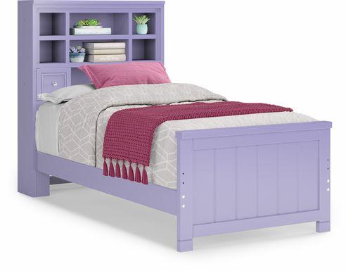 Kids Cottage Colors Lavender 3 Pc Twin Bookcase Bed
