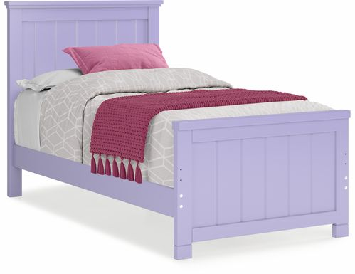 Kids Cottage Colors Lavender 3 Pc Twin Panel Bed
