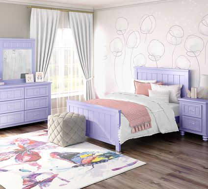 Kids Cottage Colors Lavender 5 Pc Full Panel Bedroom