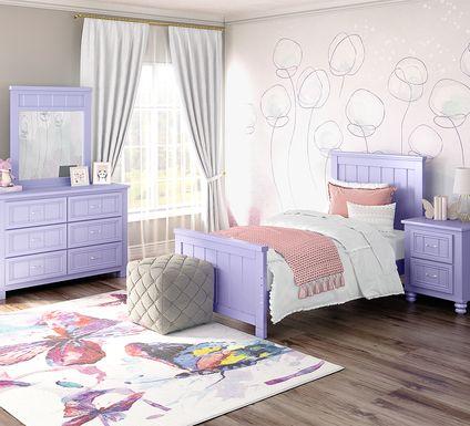 Kids Cottage Colors Lavender 5 Pc Twin Panel Bedroom