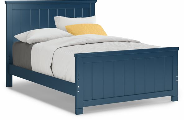 Kids Cottage Colors Navy 3 Pc Full Panel Bed