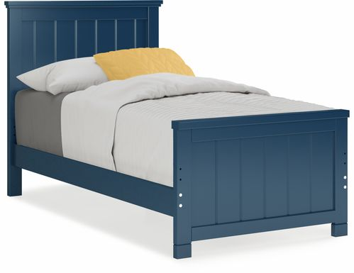 Kids Cottage Colors Navy 3 Pc Twin Panel Bed