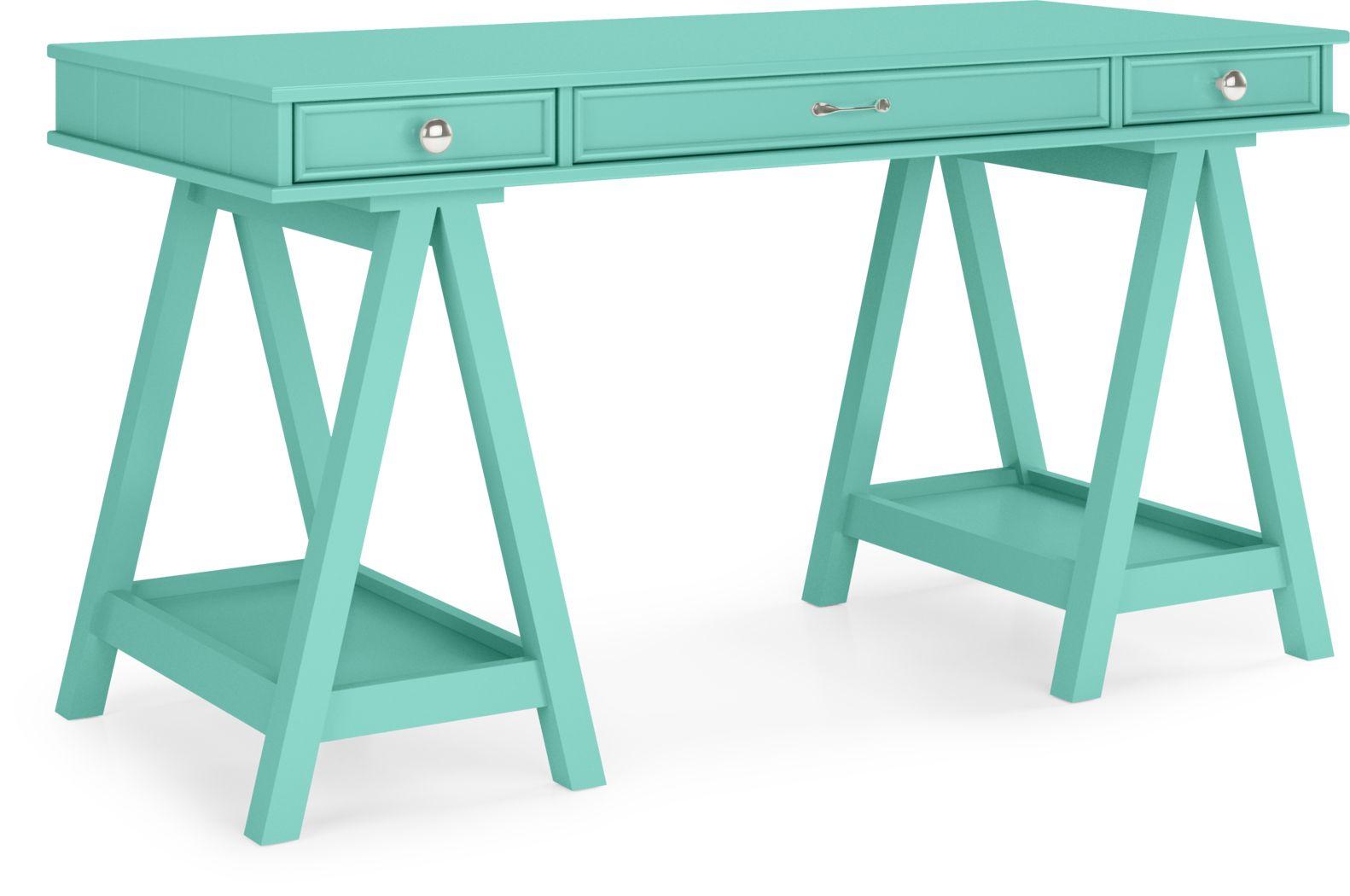 Kids Cottage Colors Turquoise Desk