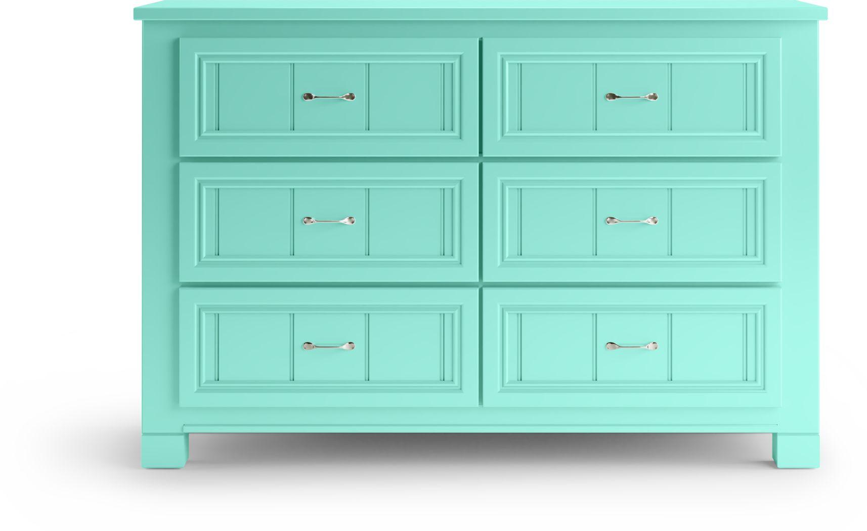 Kids Cottage Colors Turquoise Dresser