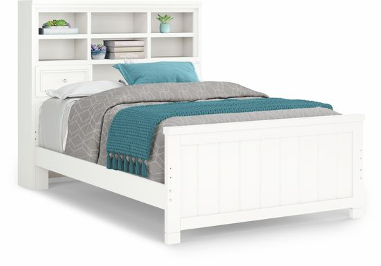 Kids Cottage Colors White 3 Pc Full Bookcase Bed