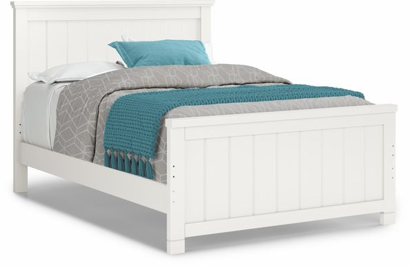 Kids Cottage Colors White 3 Pc Full Panel Bed