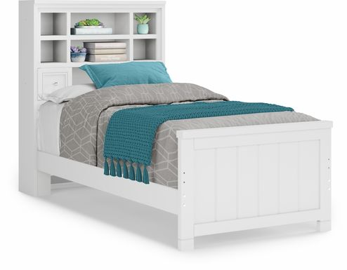 Kids Cottage Colors White 3 Pc Twin Bookcase Bed