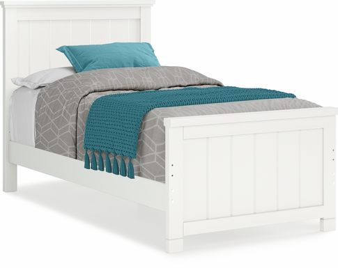 Kids Cottage Colors White 3 Pc Twin Panel Bed