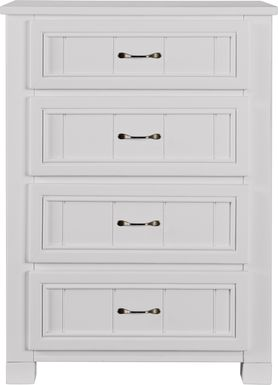 Kids Cottage Colors White Chest