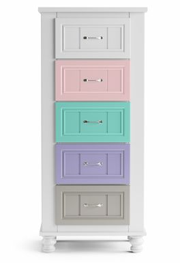 Kids Cottage Colors White Tall Chest