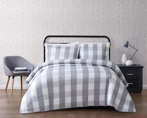 kids cottage pearl gray 3 piece full queen comforter set