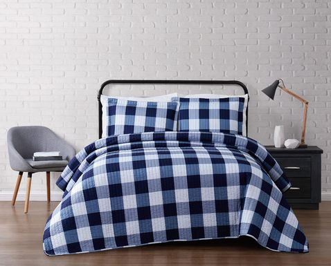 Kids Cottage Pearl Navy 2 Pc Twin Comforter Set