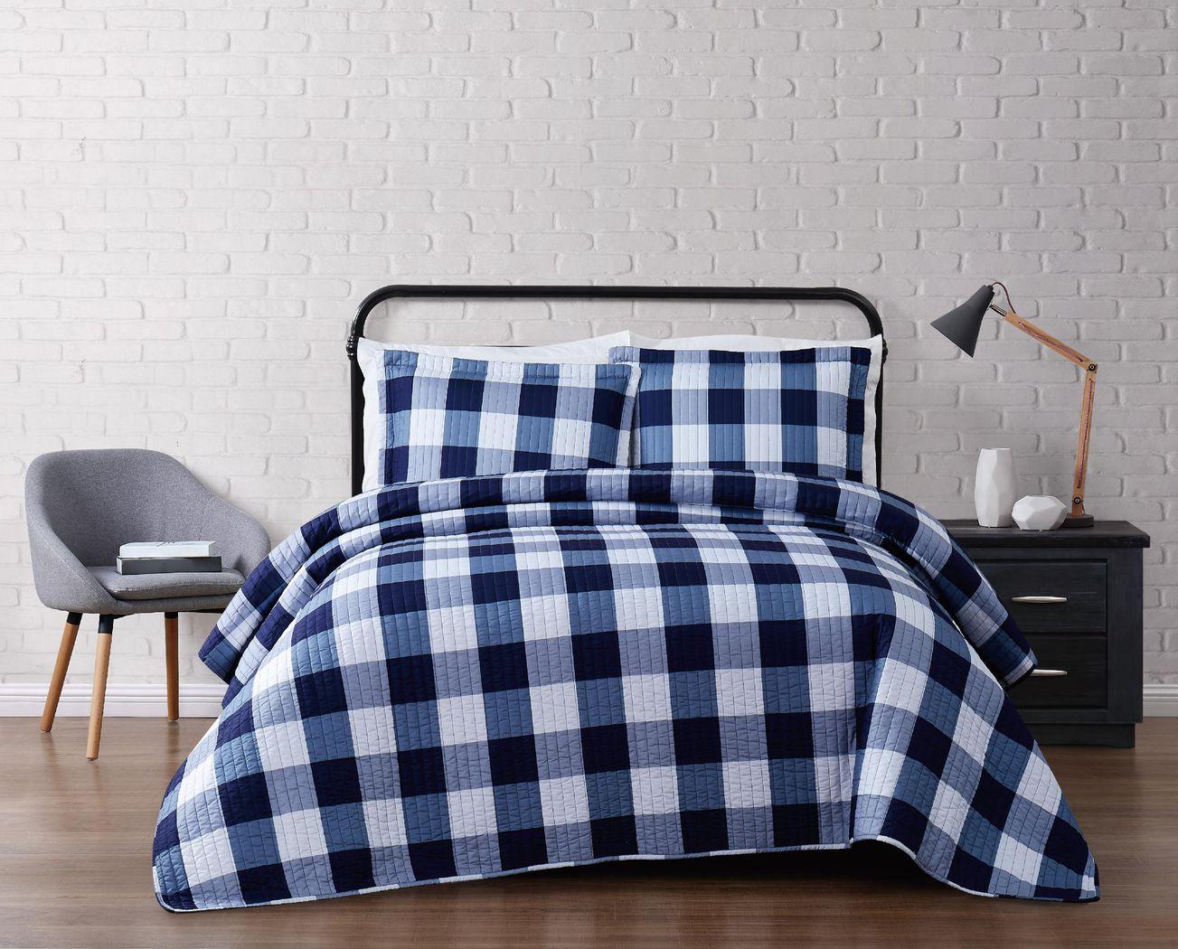 Kids Cottage Pearl Navy 3 Pc Full/Queen Comforter Set