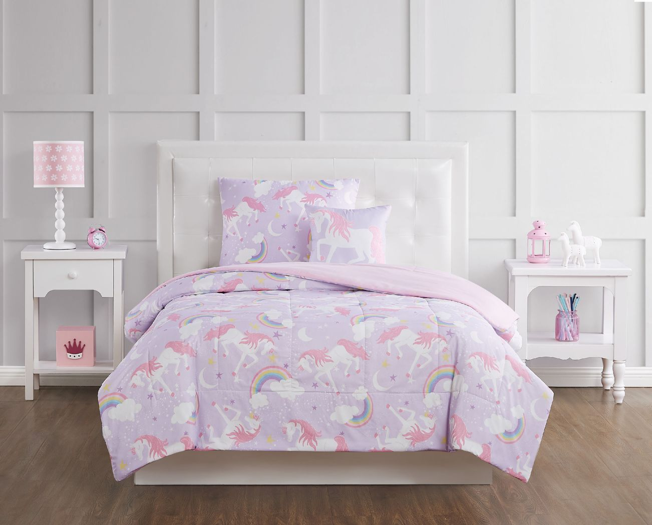 Kids Cotton Candy Unicorn Purple 3 Pc Twin Comforter Set