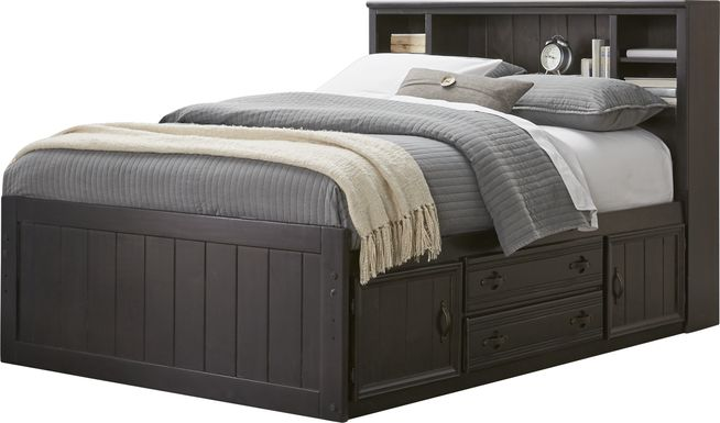 Kids Creekside Charcoal 3 Pc Full Bookcase Bed