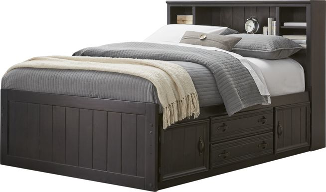 Kids Creekside Charcoal 3 Pc Twin Bookcase Bed