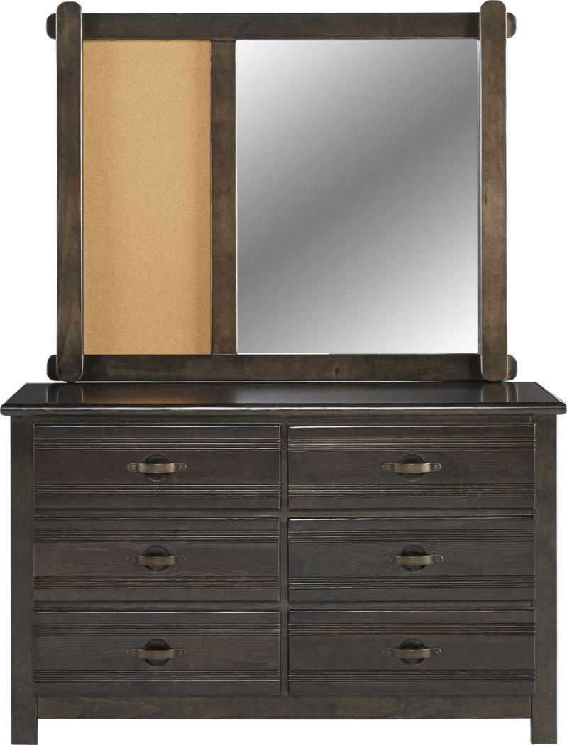 Kids Creekside Charcoal Dresser & Mirror Set