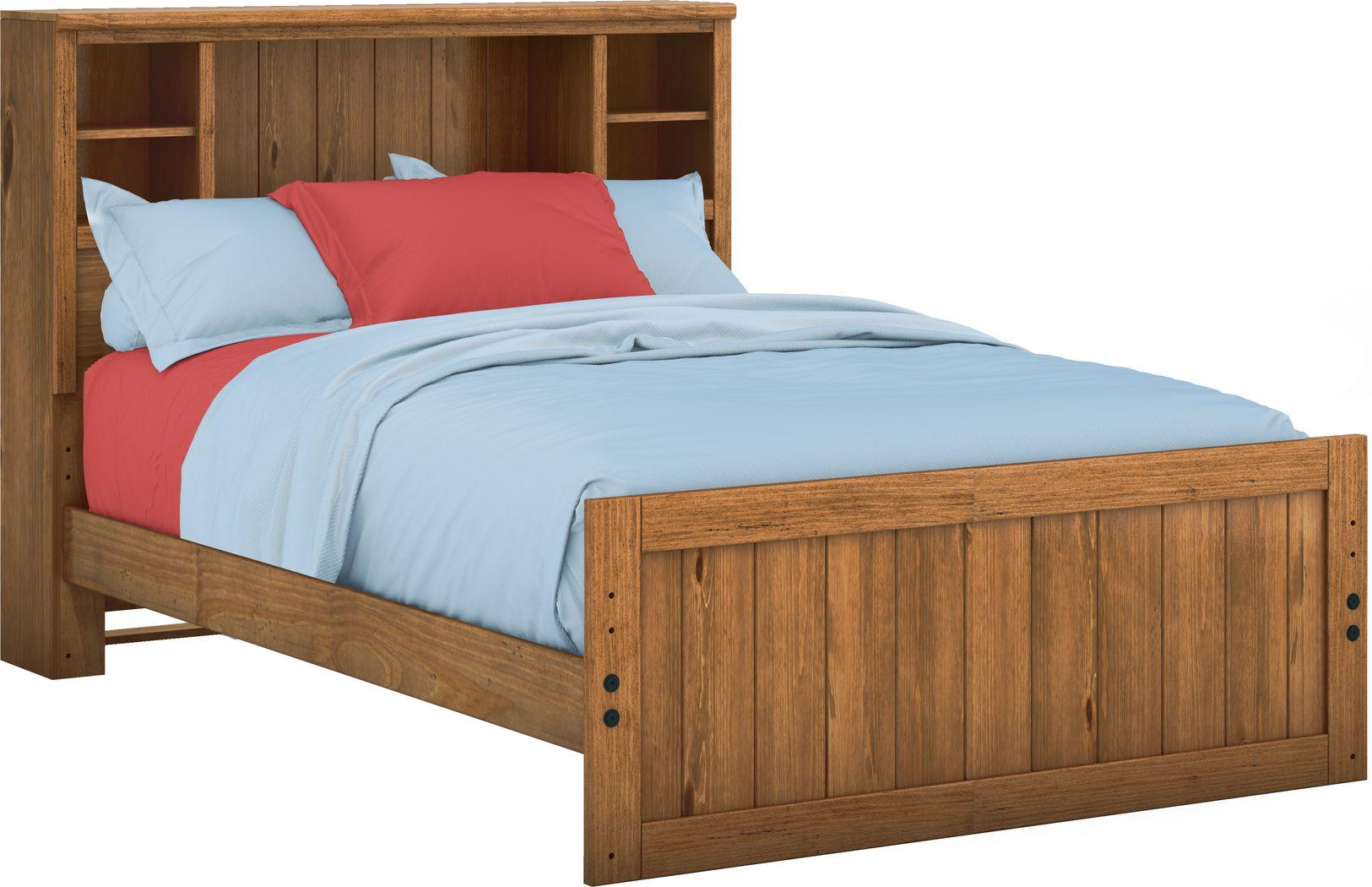 Kids Creekside Chestnut 3 Pc Full Bookcase Bed