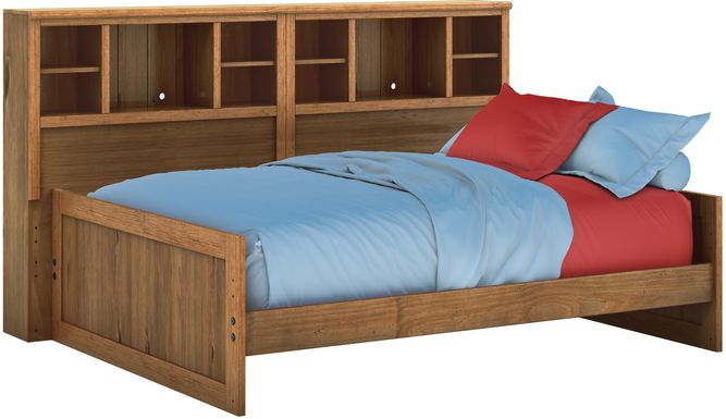 Kids Creekside Chestnut 3 Pc Full Bookcase Wall Bed