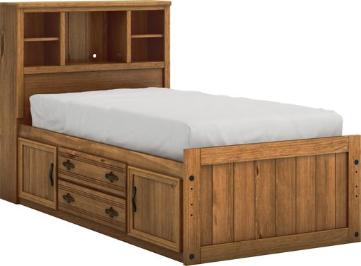Kids Creekside Chestnut 3 Pc Twin Bookcase Bed